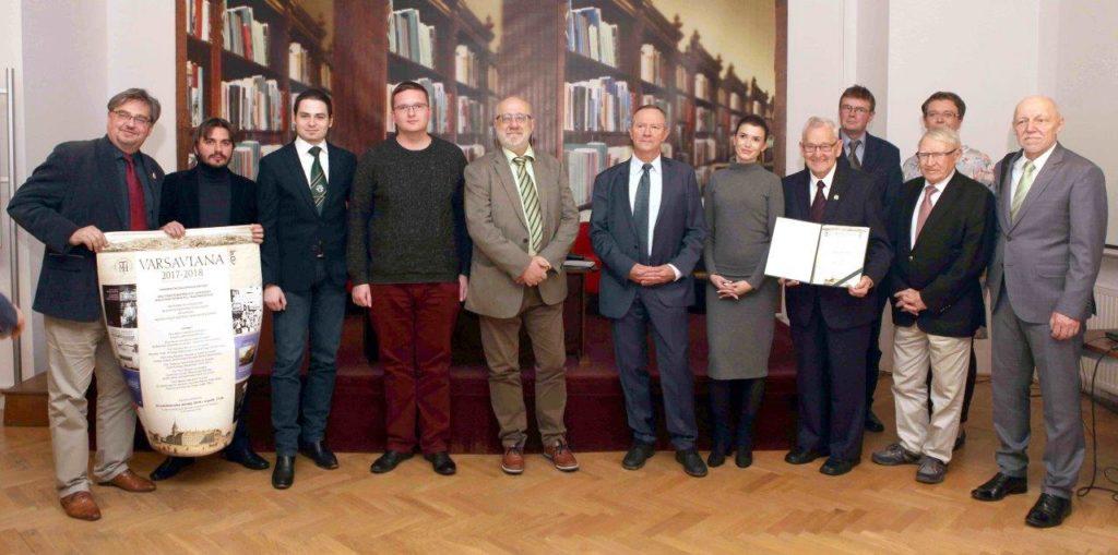 Wręczenie dyplomów honorowych za książki wyróżnione tytułem Varsaviana 2018