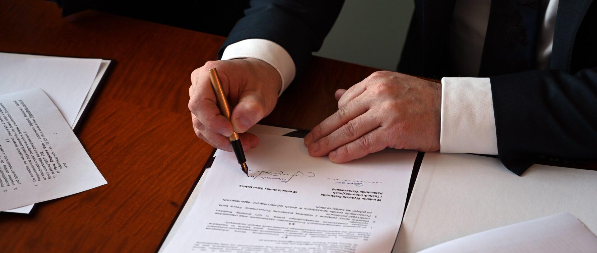 Podpisanie porozumienia o współpracy z Politechniką Warszawską