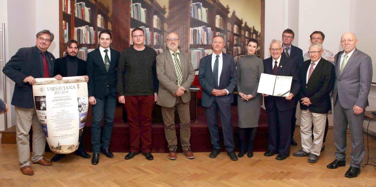 Wręczenie dyplomów honorowych zaksiążki wyróżnione tytułem Varsaviana 2018