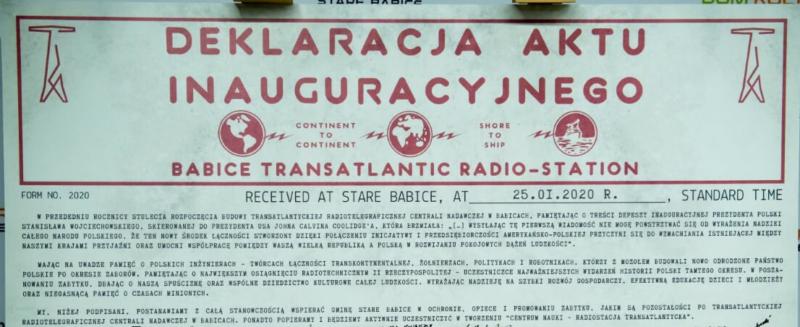 "Gala inaugurująca ""Centrum Nauki – Radiostacja Transatlantycka"""